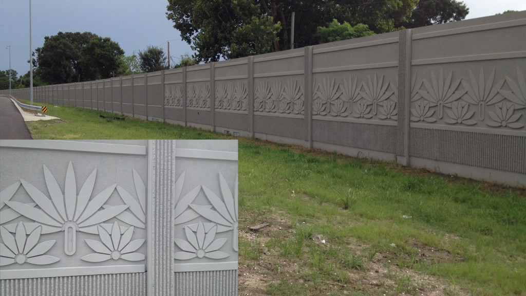 Veterans memorial i 10 sound wall alfred miller contracting - Decorative precast concrete wall panels ...